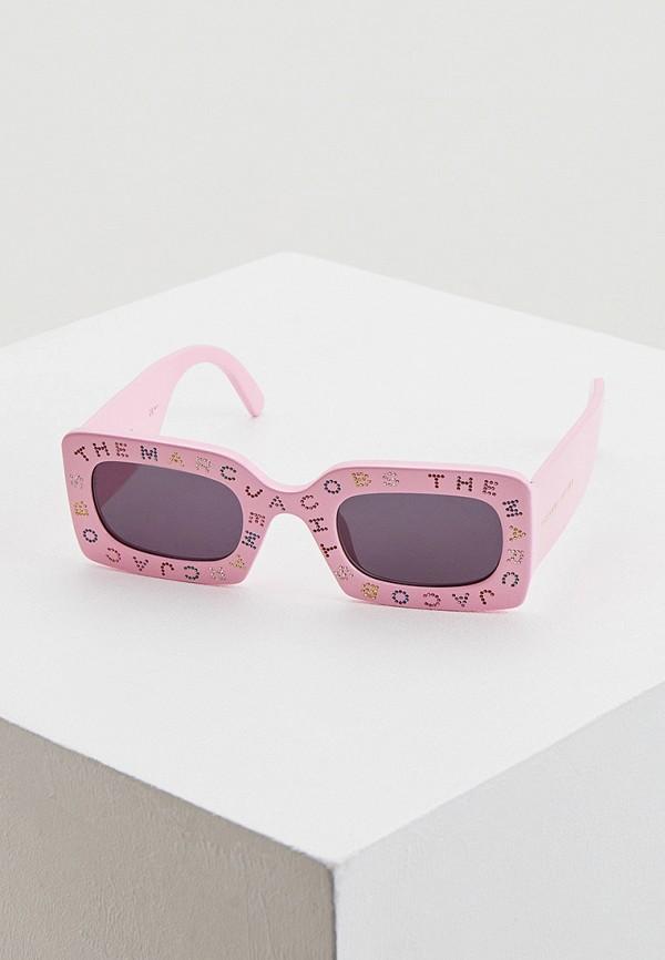 женские круглые солнцезащитные очки marc jacobs, розовые