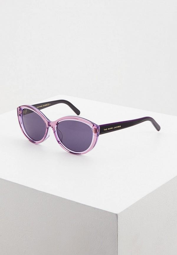 женские солнцезащитные очки кошачьи глаза marc jacobs, фиолетовые