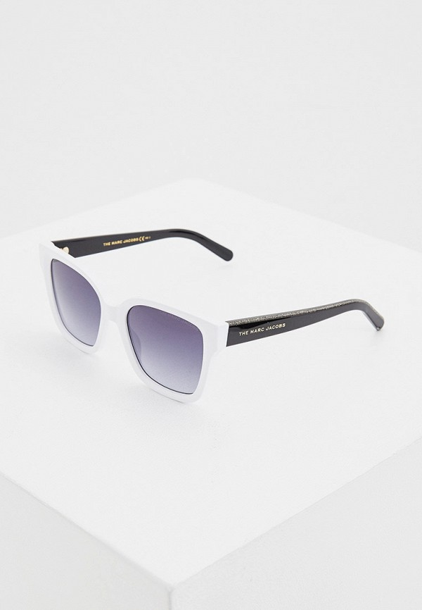 женские квадратные солнцезащитные очки marc jacobs, белые