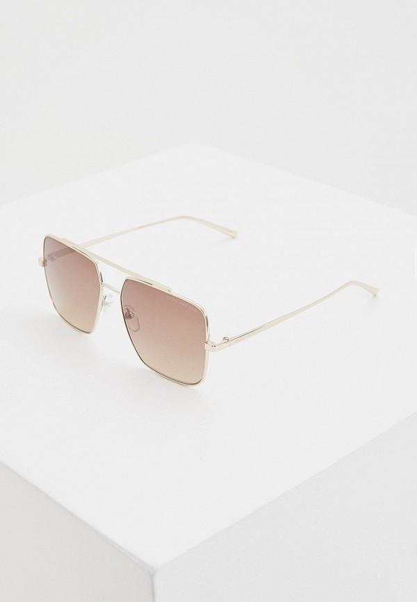женские квадратные солнцезащитные очки marc jacobs, коричневые