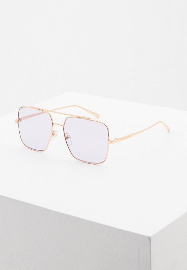 женские квадратные солнцезащитные очки marc jacobs, золотые