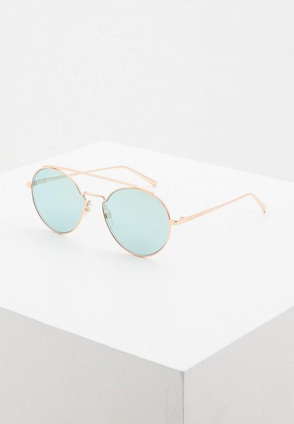 женские круглые солнцезащитные очки marc jacobs, золотые