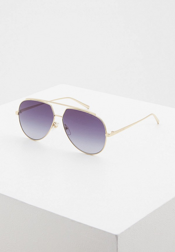 женские авиаторы солнцезащитные очки marc jacobs, золотые