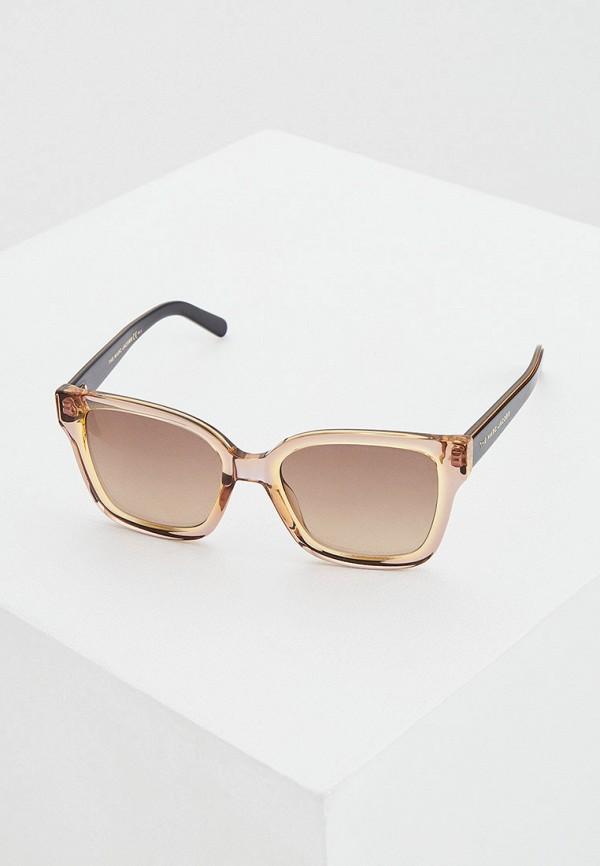 женские квадратные солнцезащитные очки marc jacobs, бежевые