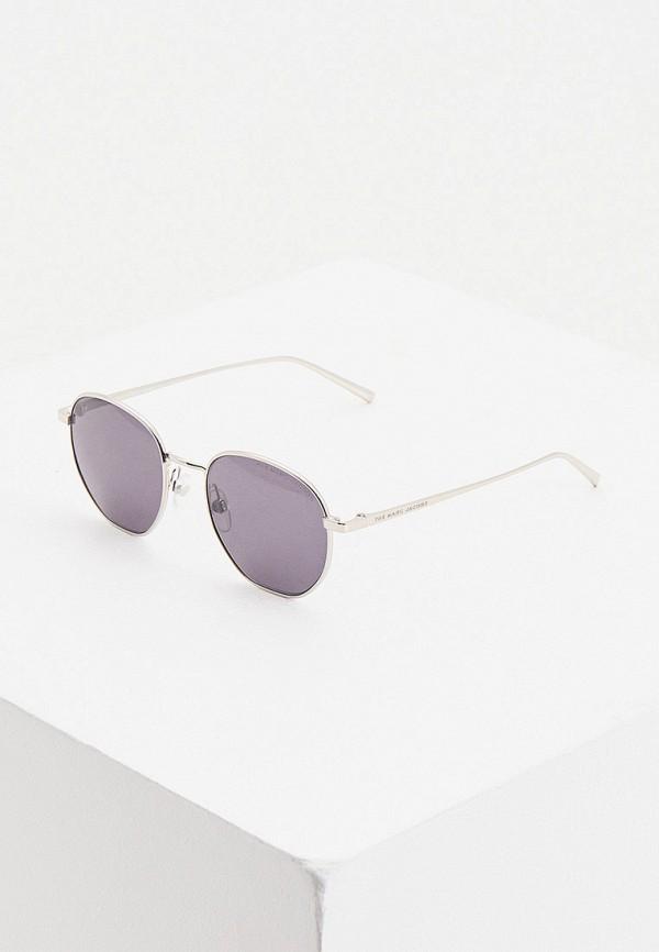 женские авиаторы солнцезащитные очки marc jacobs, серебряные