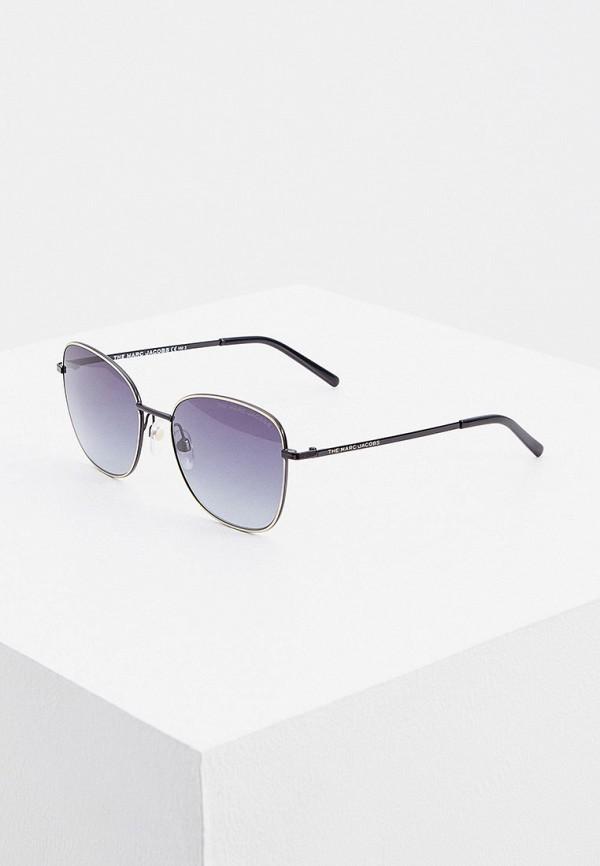 женские круглые солнцезащитные очки marc jacobs, серебряные