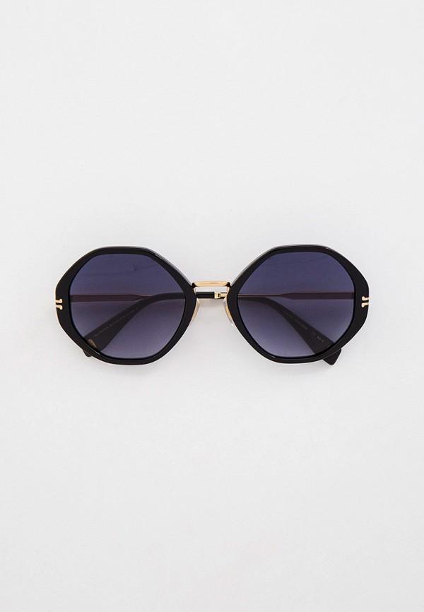 женские квадратные солнцезащитные очки marc jacobs, черные