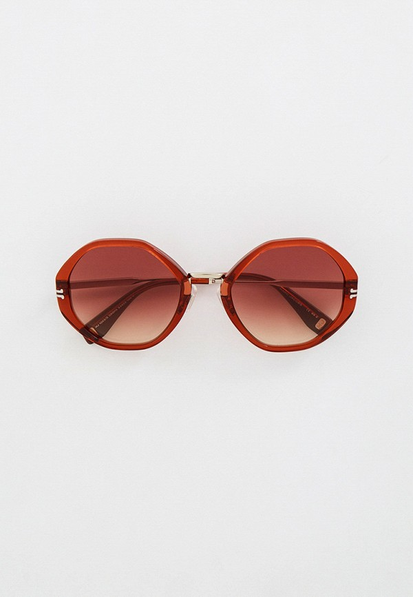 женские солнцезащитные очки marc jacobs, коричневые