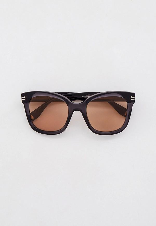 женские квадратные солнцезащитные очки marc jacobs, серые