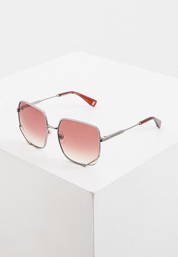 женские квадратные солнцезащитные очки marc jacobs, серебряные