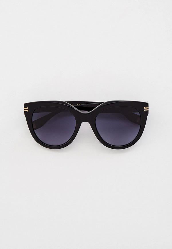 женские круглые солнцезащитные очки marc jacobs, черные