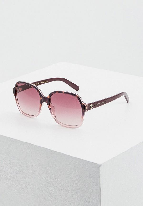 женские квадратные солнцезащитные очки marc jacobs, разноцветные