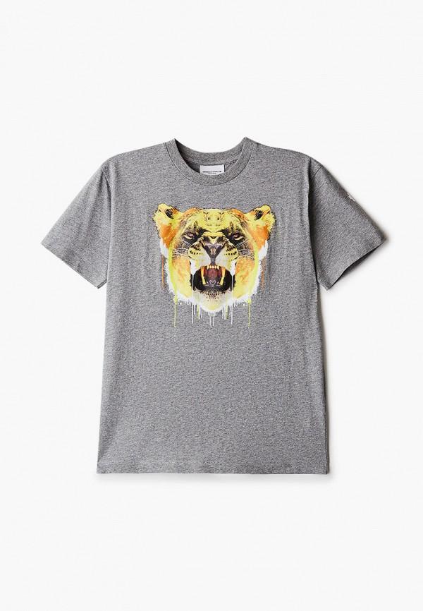 футболка с коротким рукавом marcelo burlon kids of milan для мальчика, серая