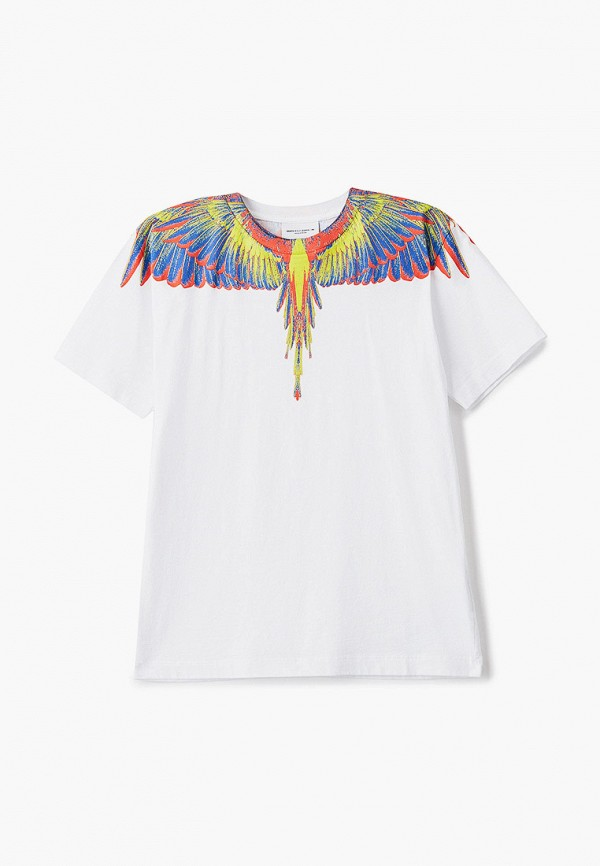 футболка с коротким рукавом marcelo burlon kids of milan для мальчика, белая