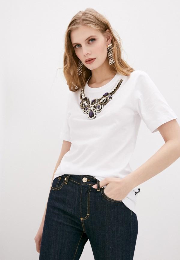 женская футболка marco bologna, белая