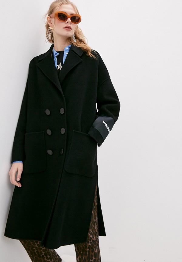 женское пальто marco bologna, черное