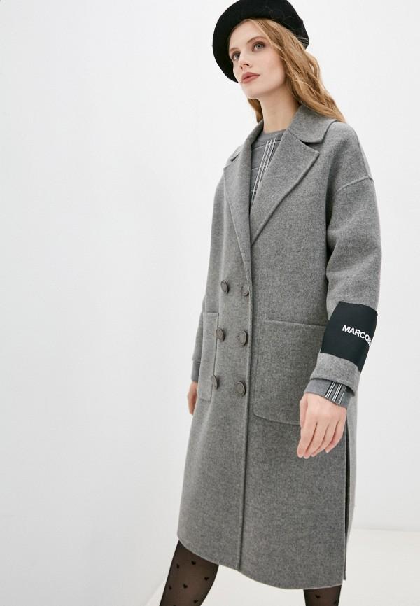 женское пальто marco bologna, серое