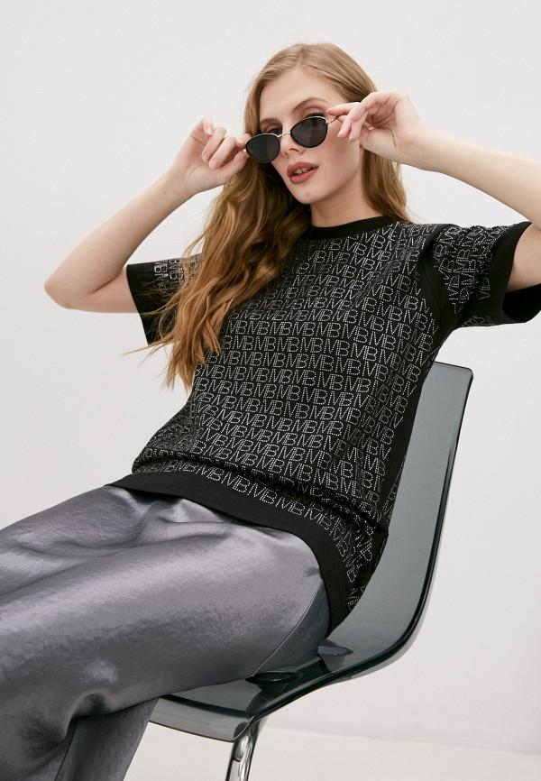 женская футболка marco bologna, черная