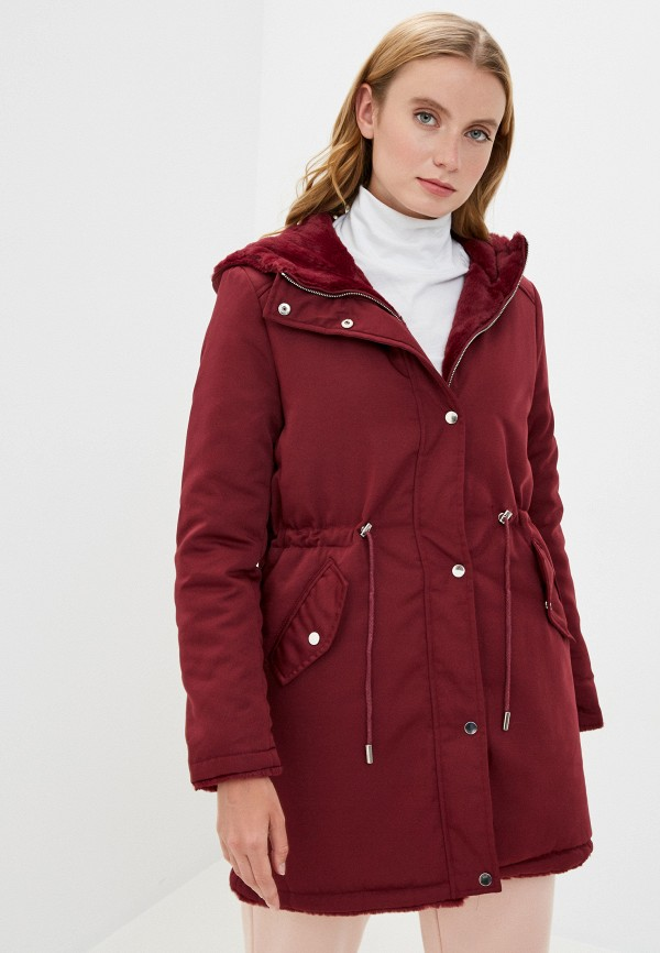 женская куртка mallanee, бордовая