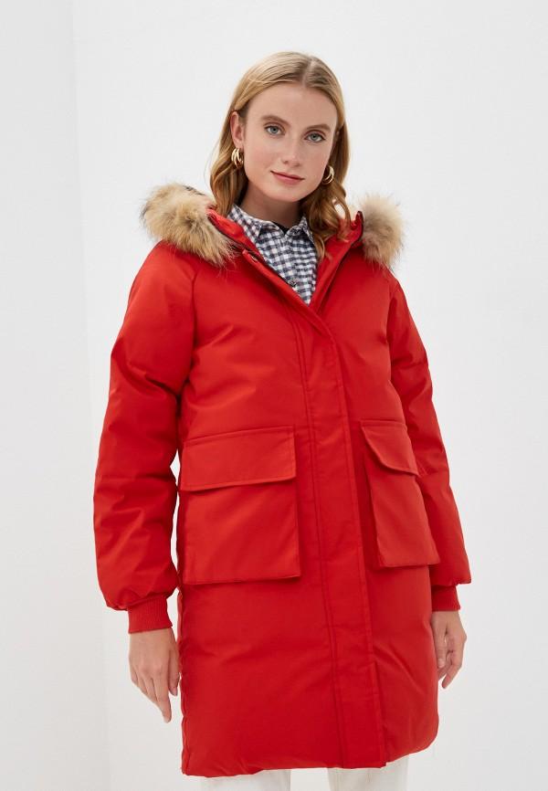 женская куртка mallanee, красная