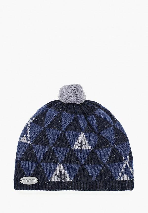 шапка maxval для мальчика, синяя