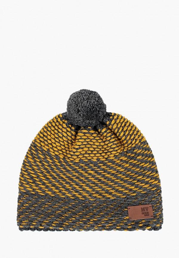 шапка maxval для мальчика, коричневая