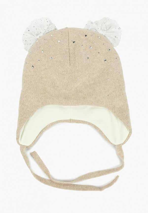 шапка maxval для девочки, бежевая