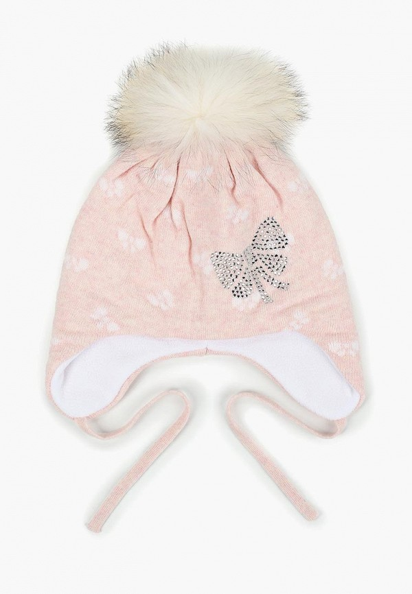 шапка maxval для девочки, розовая