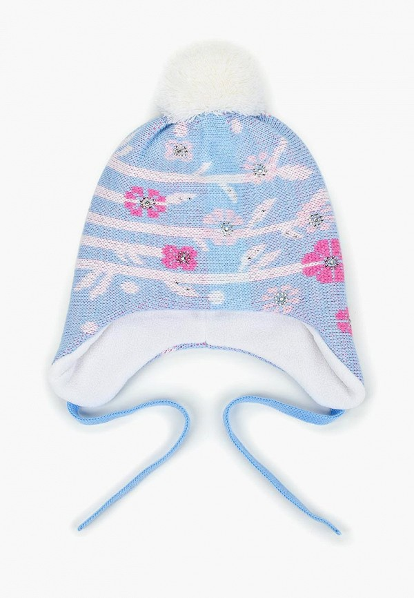 шапка maxval для девочки, голубая