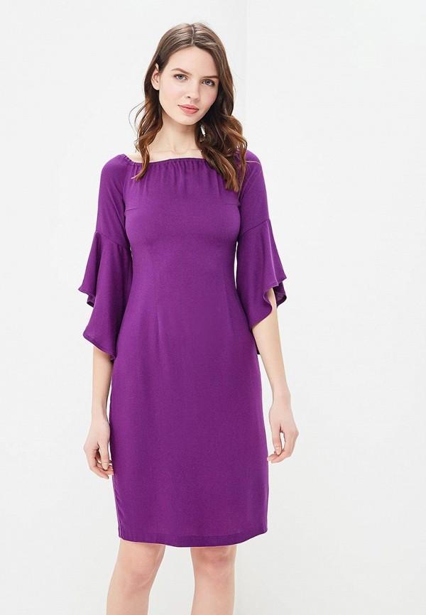 женское повседневные платье мадам т, фиолетовое