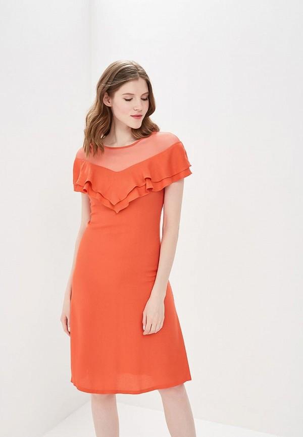 женское повседневные платье мадам т, оранжевое