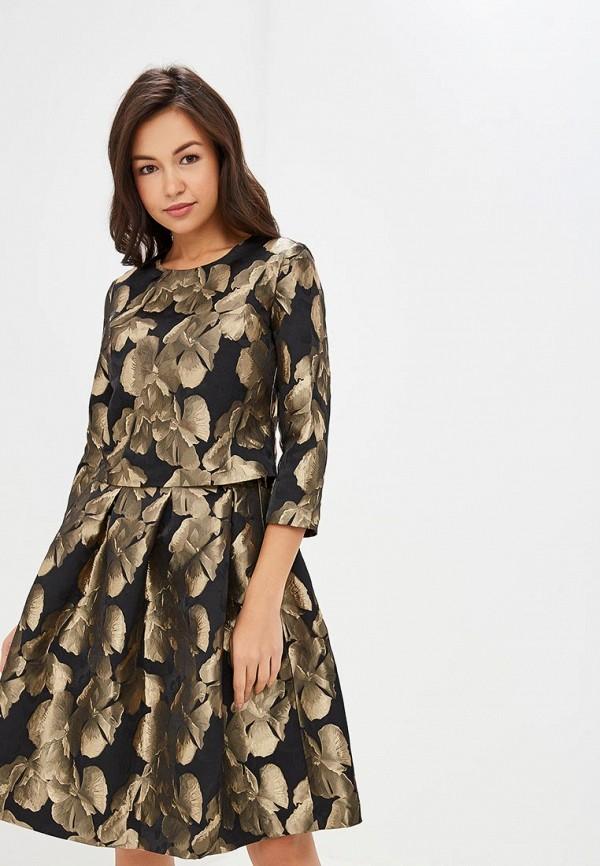 женское вечерние платье мадам т, золотое