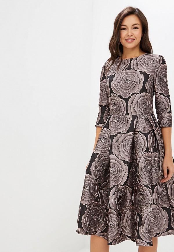 женское вечерние платье мадам т, серебряное