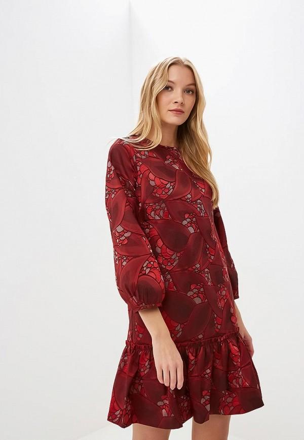 женское повседневные платье мадам т, красное