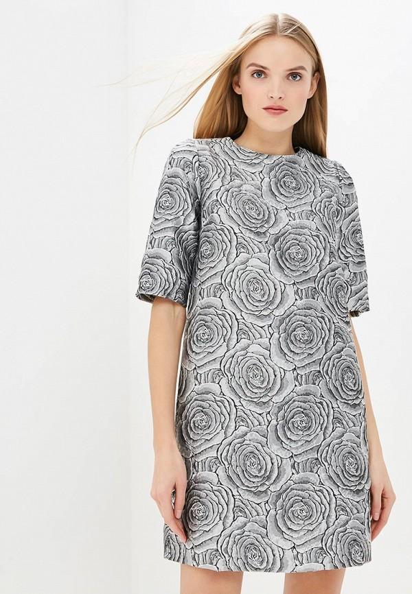 женское повседневные платье мадам т, серебряное