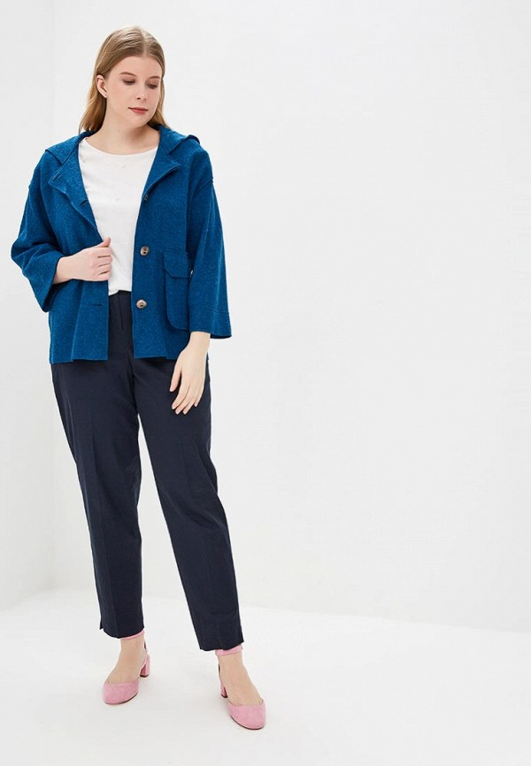 Фото 2 - женский жакет MadaM T синего цвета