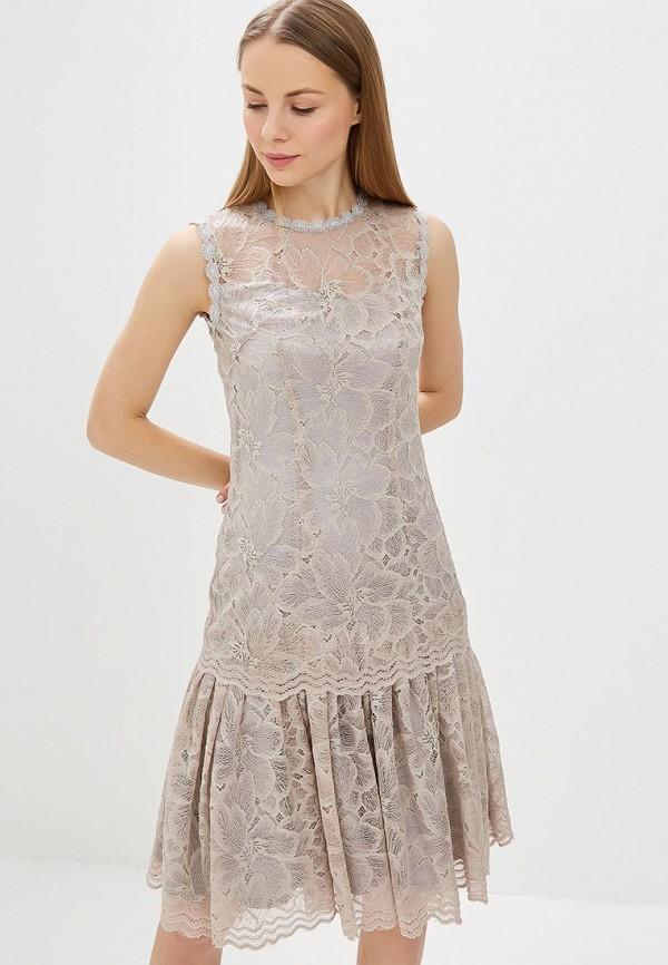 женское вечерние платье мадам т, серое