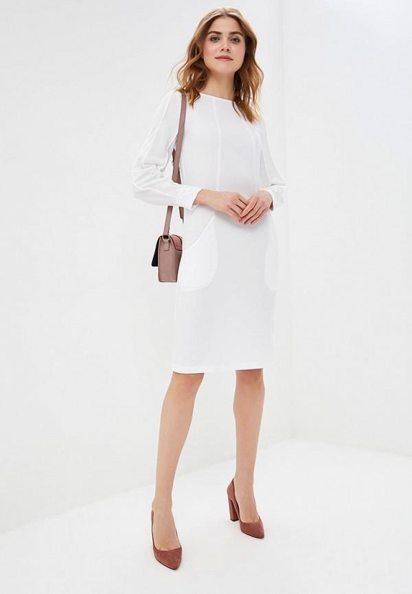 Фото 2 - женское платье MadaM T белого цвета