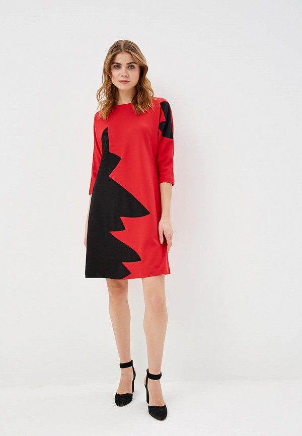 Фото 2 - женское платье MadaM T красного цвета