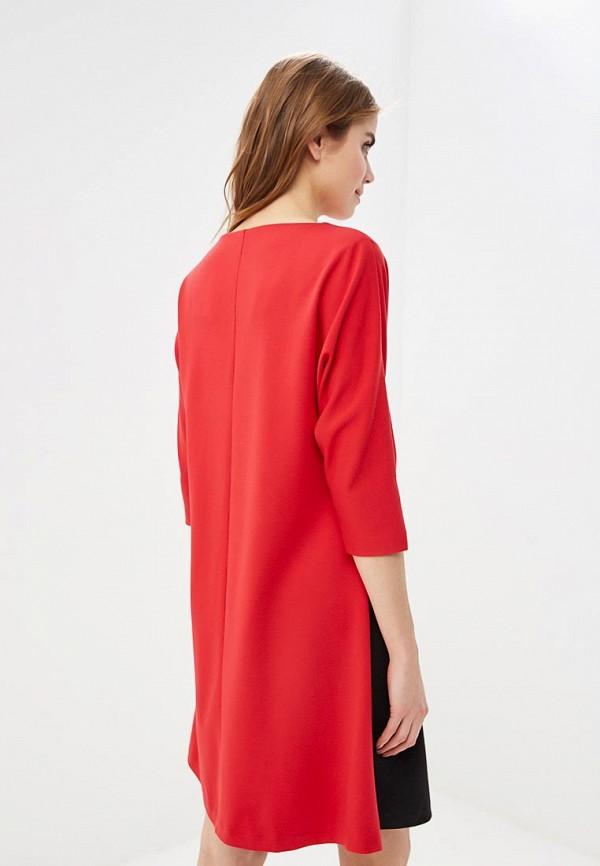 Фото 3 - женское платье MadaM T красного цвета