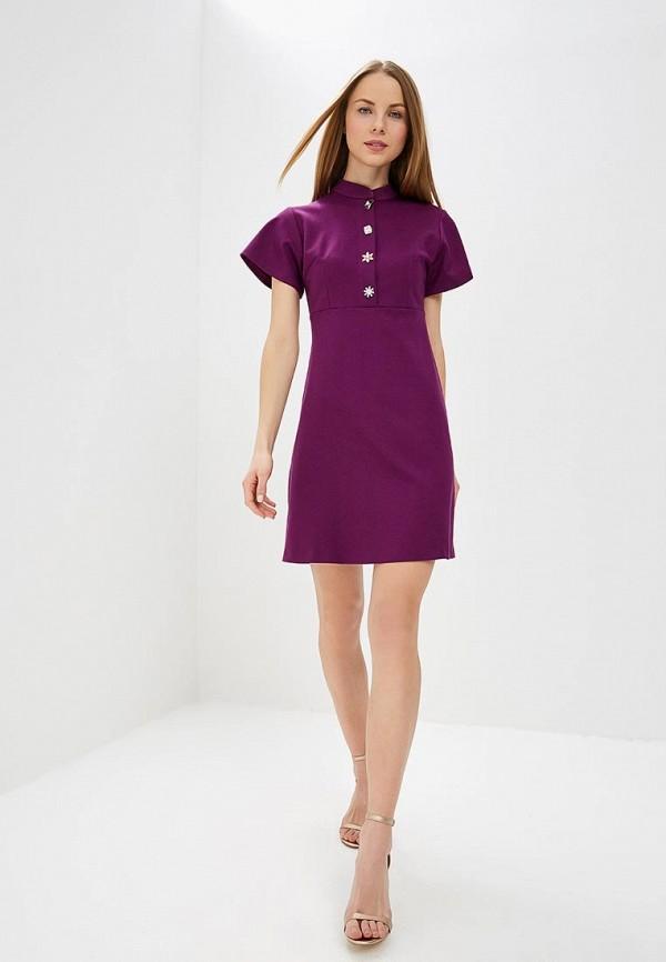 Фото 2 - женское платье MadaM T фиолетового цвета