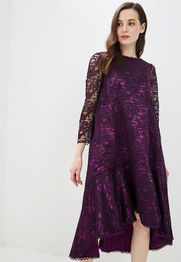 женское вечерние платье мадам т, фиолетовое