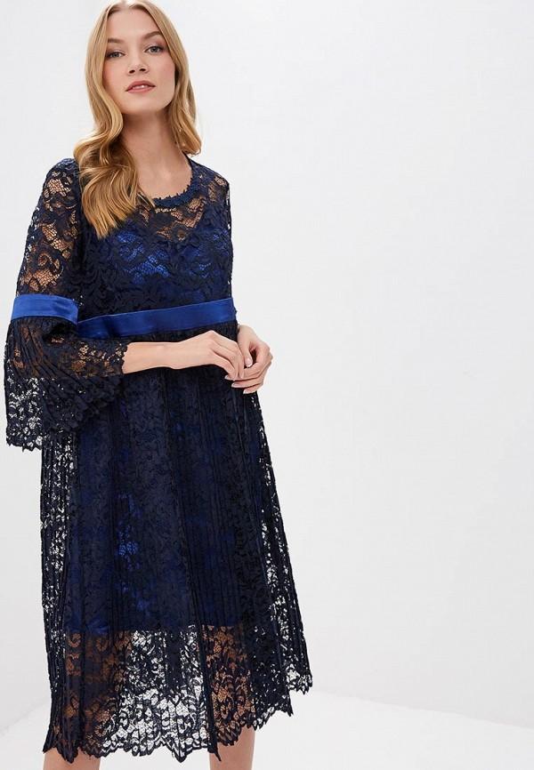 женское вечерние платье мадам т, синее
