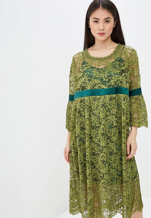 женское повседневные платье мадам т, хаки
