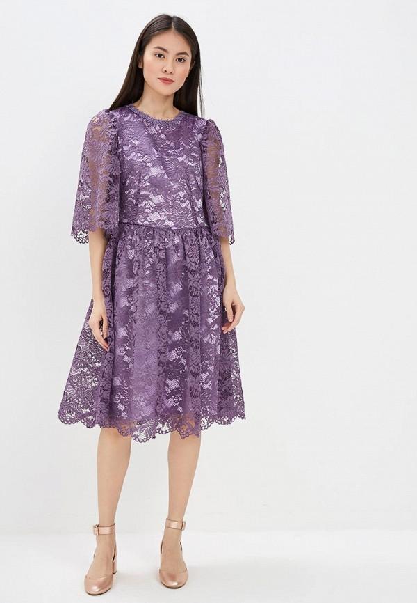 Фото 2 - женское вечернее платье MadaM T фиолетового цвета