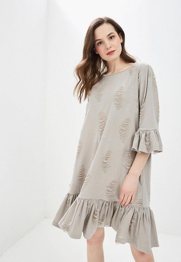 женское повседневные платье мадам т, бежевое