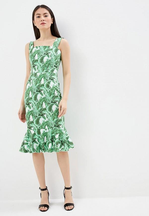 женское платье-футляр мадам т, зеленое