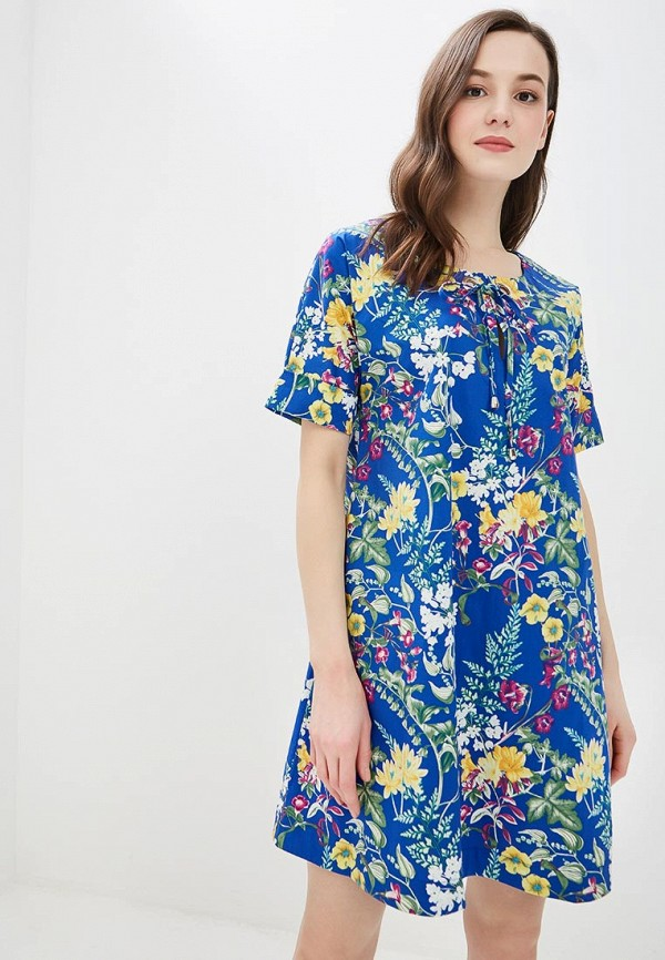 женское повседневные платье мадам т, синее
