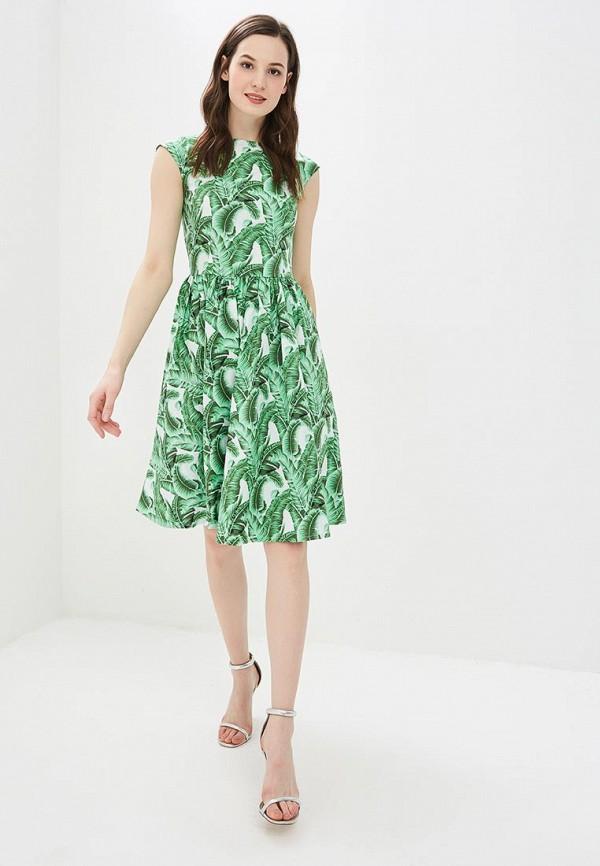 Фото 2 - женское платье MadaM T зеленого цвета