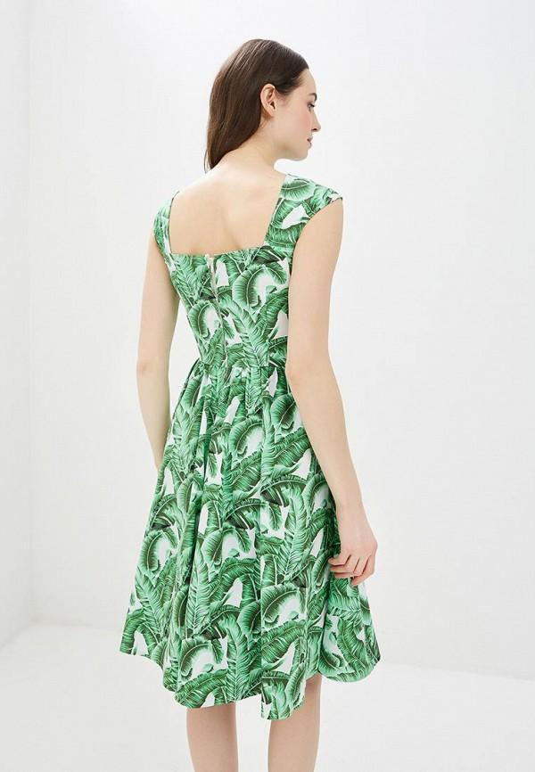 Фото 3 - женское платье MadaM T зеленого цвета